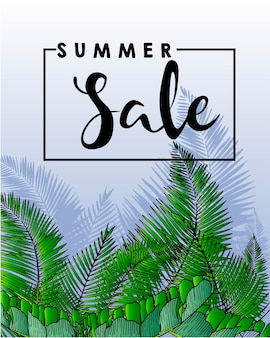 Wektorowa ulotka lato sprzedaż