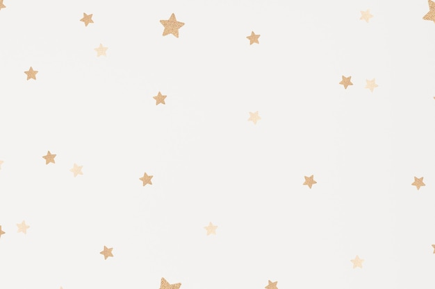 Wektorowa złota gwiazda lśniąca artystyczna tapeta z wzorem