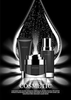 Wektorowe reklamy kosmetyczne