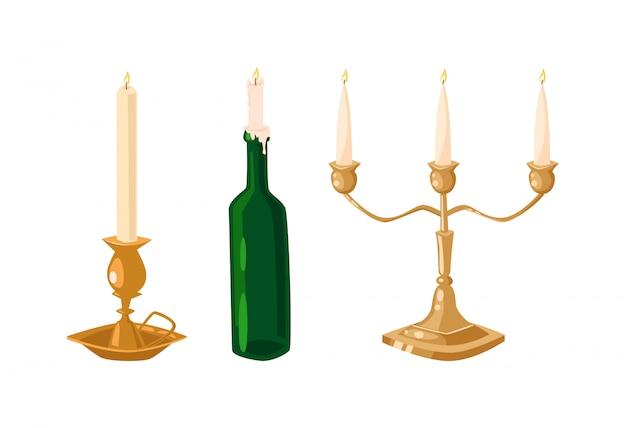 Wektorowe świeczki odizolowywać
