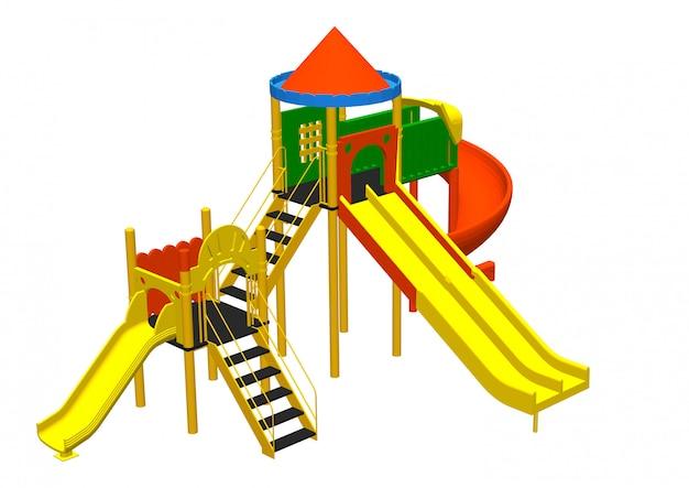 Wektorowe zabawki na placu zabaw dla dzieci