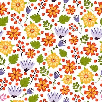 Wektorowego kwiatu lata kolorowy wzór