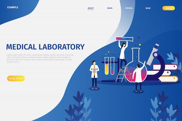 Wektorowi ilustracyjni pojęcia medycznego laboratorium badania
