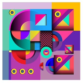 Wektorowy abstrakcjonistyczny geometryczny i curvy kolorowy deseniowy projekt