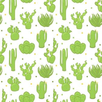 Wektorowy bezszwowy modny wzór z kaktusami.