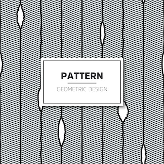 Wektorowy bezszwowy wzór. nowoczesna stylowa tekstura z falistymi paskami.
