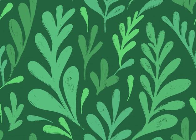 Wektorowy bezszwowy wzór z botanicznym motywem.