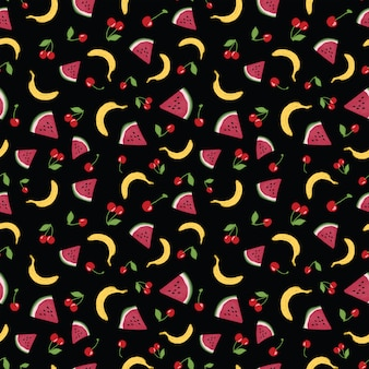 Wektorowy bezszwowy wzór z letnimi owoc