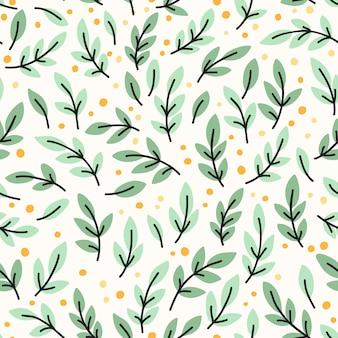 Wektorowy bezszwowy wzór z żółtymi liśćmi