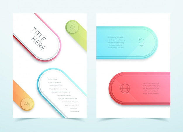 Wektorowy biznesowy kolorowy 3d strony szablonu układ