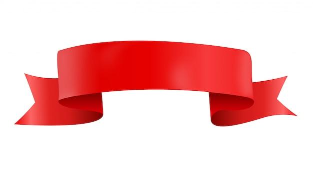 Wektorowy czerwoną wstążką na białym tle