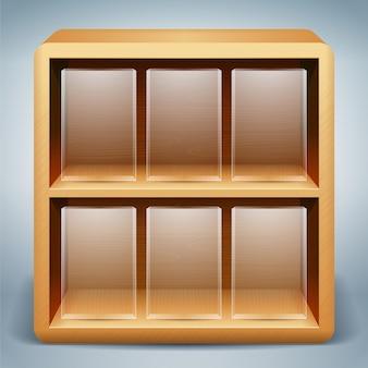 Wektorowy drewniany półki tło