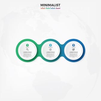 Wektorowy infographic etykietki projekta szablon