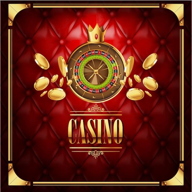 Wektorowy kasynowy uprawia hazard gemowy luksusowy tło
