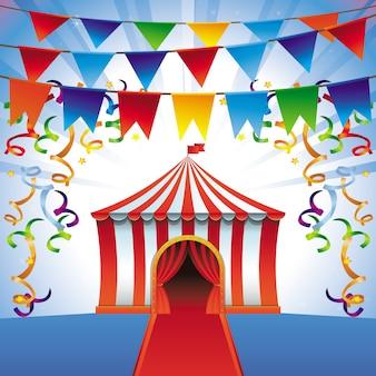 Wektorowy namiot cyrkowy