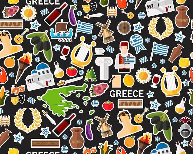 Wektorowy płaski bezszwowej tekstury wzór greece