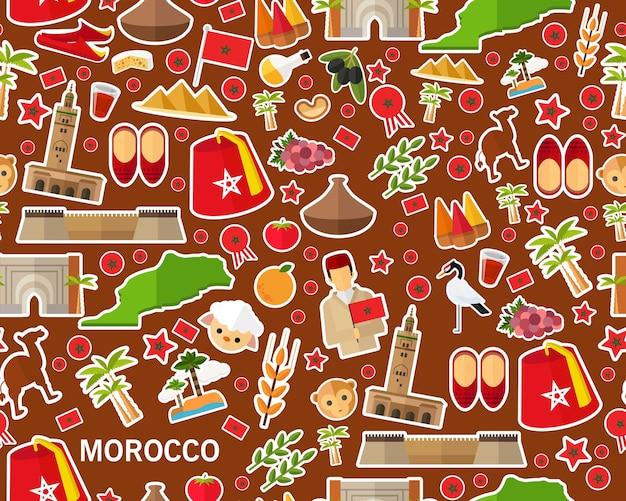 Wektorowy płaski bezszwowy tekstura wzór morocco