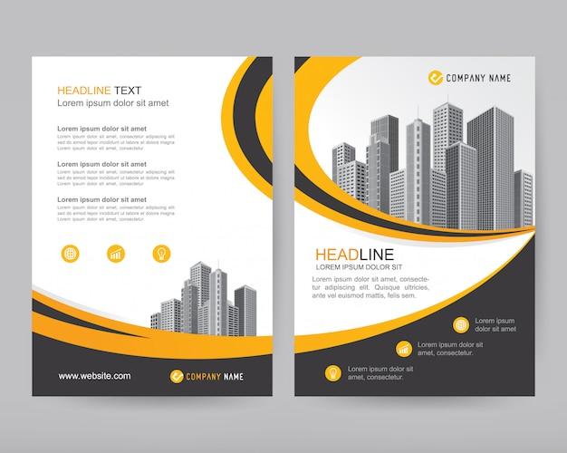 Wektorowy raport roczny biznesowa broszurka, projekt ulotki