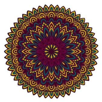 Wektorowy round ornamentacyjny doodle mandala.