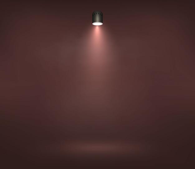 Wektorowy światło reflektorów na sceny ilustraci