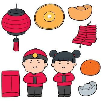 Wektorowy ustawiający chiński nowy rok