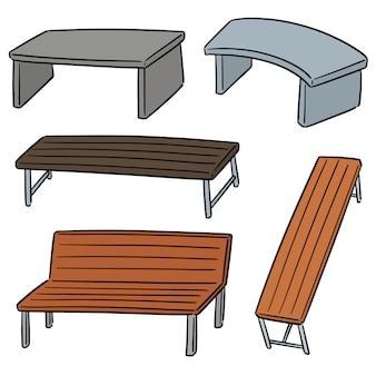 Wektorowy ustawiający ławka