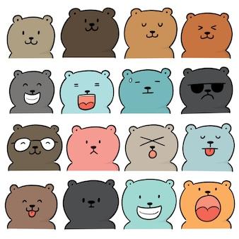 Wektorowy ustawiający niedźwiedź