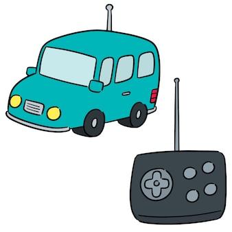 Wektorowy ustawiający pilot do tv samochód