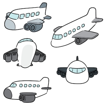 Wektorowy ustawiający samolot