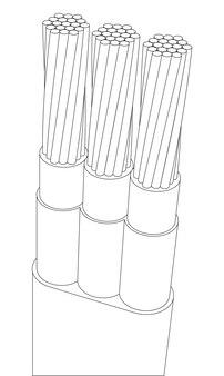 Wektorowy zbrojony wielożyłowy przewód elektryczny
