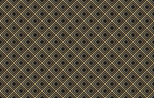 Wektorowy złoty diamentowy bezszwowy wzór.