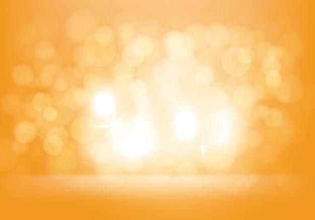 Wektorowy żółty abstrakcjonistyczny tło z błyskami