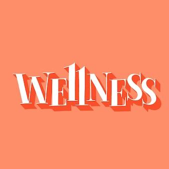 Wellness handdrawn napis cytat dla centrum spa i wellness