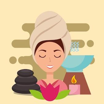 Wellness spa kobieta
