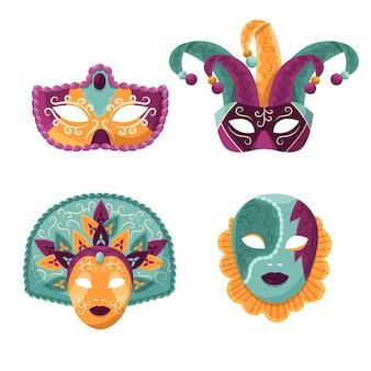 Weneckie maski karnawałowe 2d