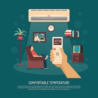 Wentylacja klimatyzacja ogrzewanie ilustracji