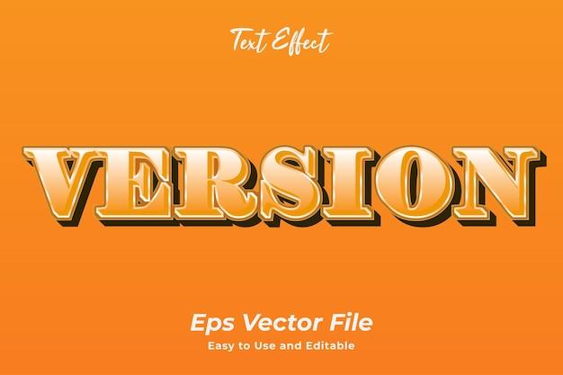 Wersja z efektem tekstowym edytowalna i łatwa w użyciu wektor premium
