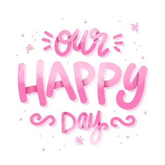 Wesele napis tło szczęśliwy dzień