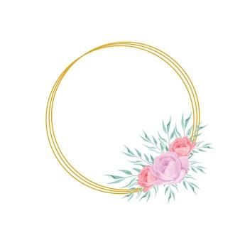 Wesele piękny kwiatowy kwiat ramki i liście