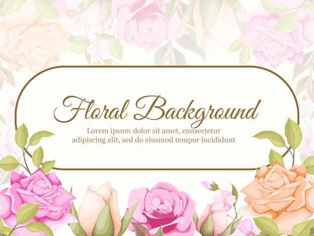 Wesele transparent tło kwiatowy koncepcja szablon