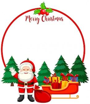 Wesoło kartka bożonarodzeniowa z Santa