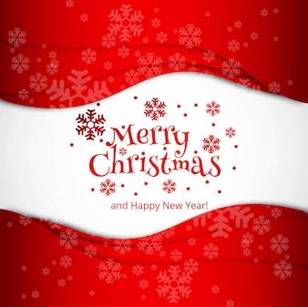 Wesołych Świąt Bożego Narodzenia celebracja karta projekt wektor