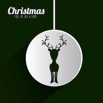 Wesołych Świąt koncepcja z ikonami dekoracji