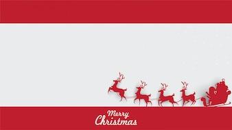Wesołych Świąt Mikołaj na niebie