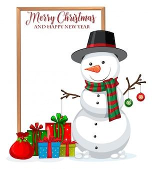 Wesoła ramka bożonarodzeniowa