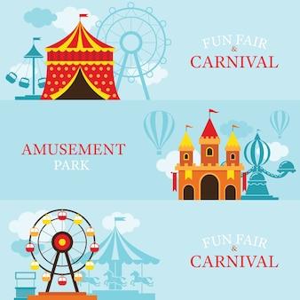 Wesołe miasteczko, park rozrywki, cyrk, karnawał, wesołe miasteczko