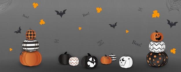 Wesołego halloween. cukierek albo psikus. gwizd. koncepcja wakacje z duchem