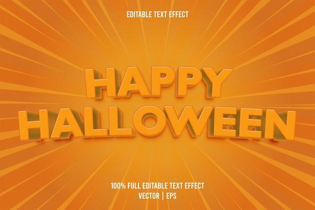 Wesołego halloween edytowalny efekt tekstowy w stylu komiksowym