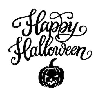 Wesołego halloween. napis odręczny