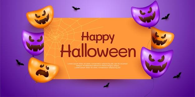 Wesołego halloween pionowy baner